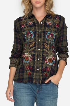 3J Workshop by Johnny Was Marcella Plaid Shirt - Product List Image