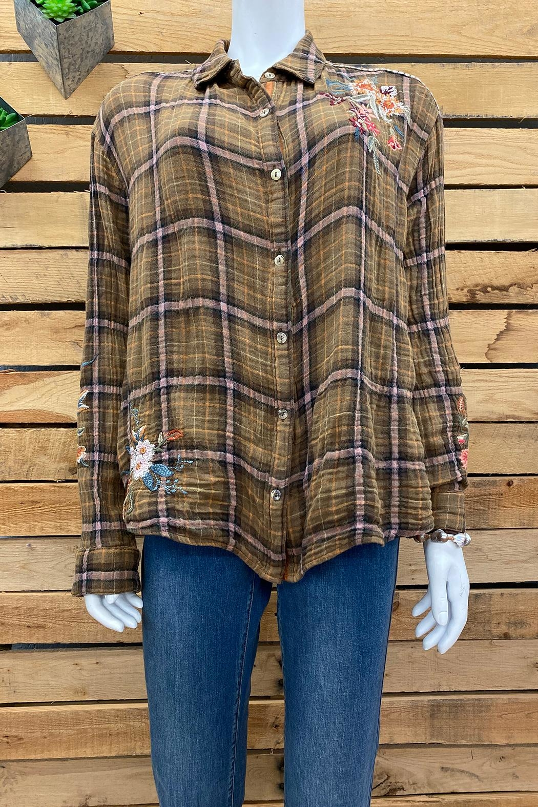 3J Workshop by Johnny Was Marlie Boxy Shirt - Front Full Image