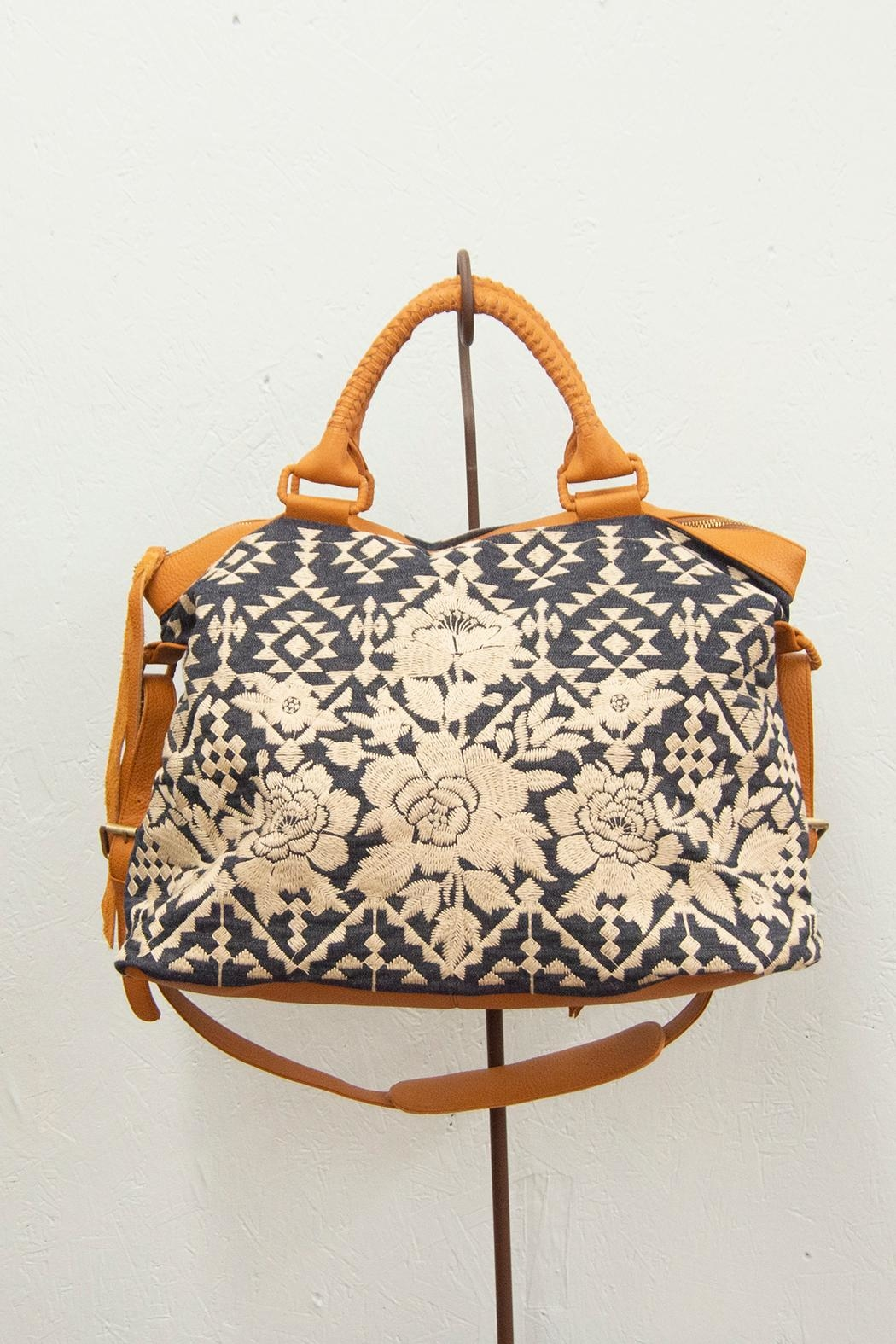 3J Workshop by Johnny Was Mela Overnight Tote - Front Full Image