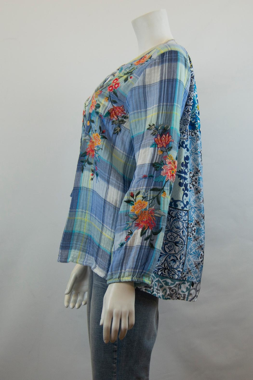 3J Workshop by Johnny Was Norah Peasant Blouse - Front Full Image