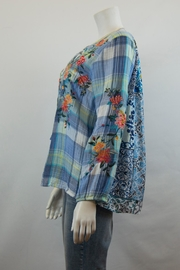 3J Workshop by Johnny Was Norah Peasant Blouse - Front full body