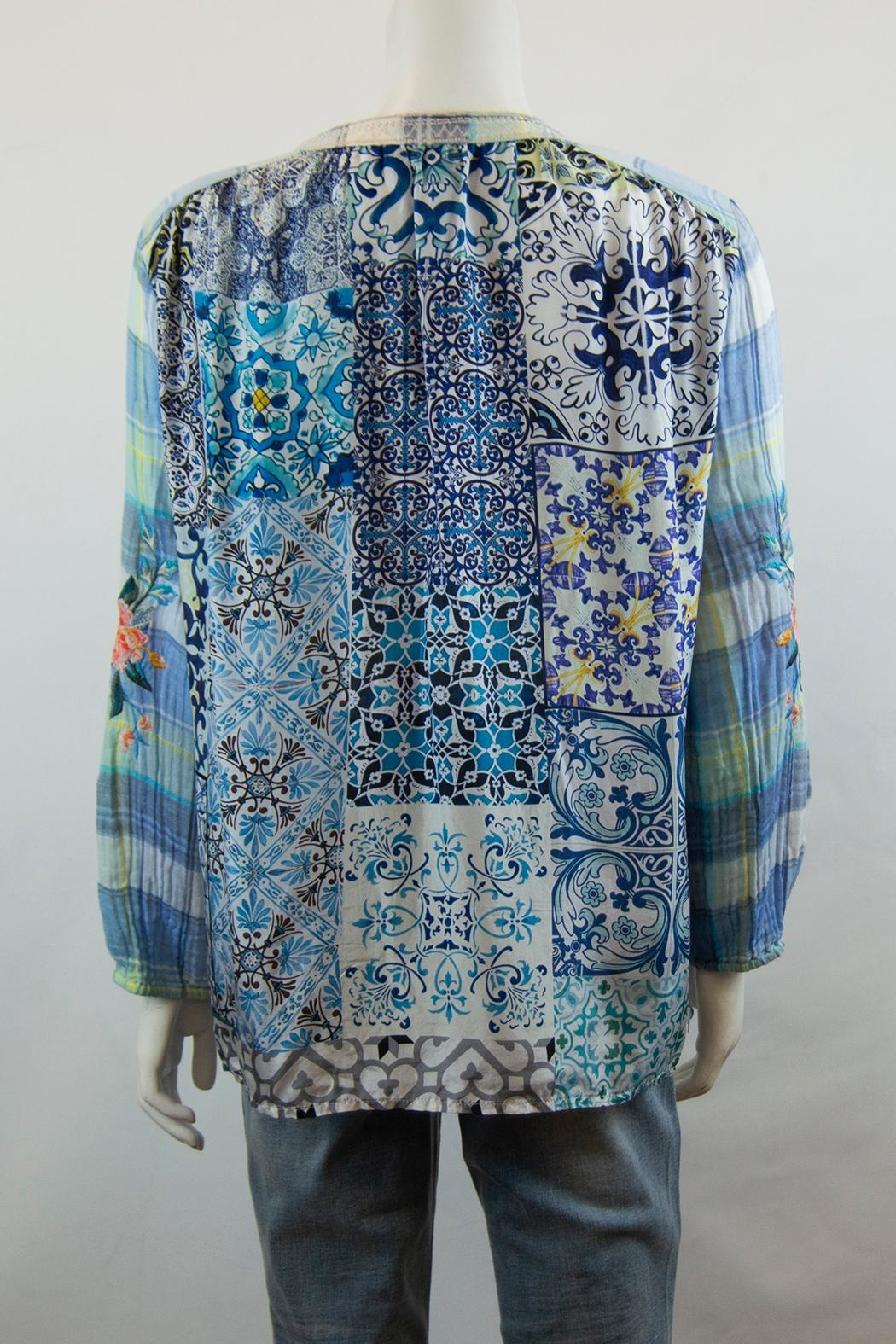 3J Workshop by Johnny Was Norah Peasant Blouse - Side Cropped Image