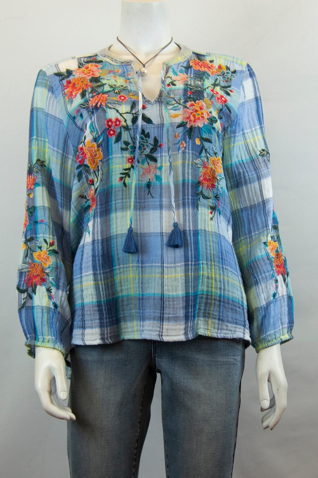 3J Workshop by Johnny Was Norah Peasant Blouse - Main Image