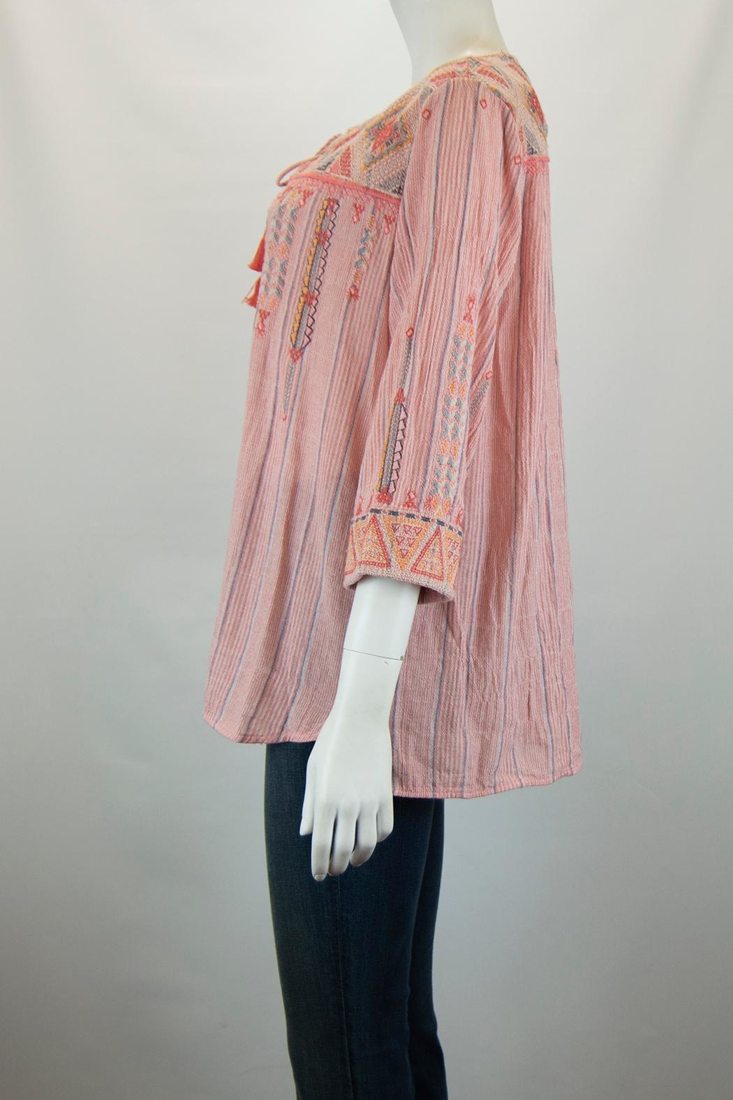 3J Workshop by Johnny Was Thora Nomad Blouse - Front Full Image