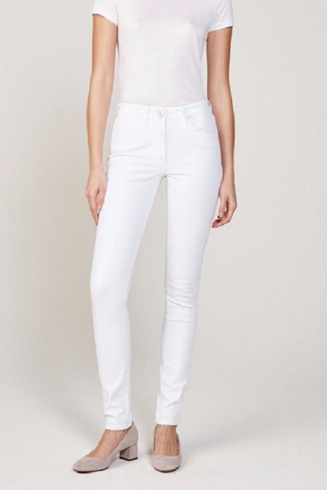 3x1 Highrise White Jean - Side Cropped Image