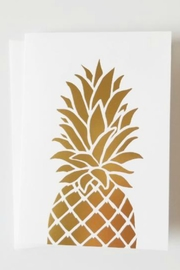 Bradley & Lily 4-Bar Folded Foil Pineapple Card - Product Mini Image