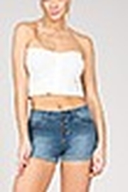 Lyn-Maree's  4 Button Denim Shorts - Product Mini Image
