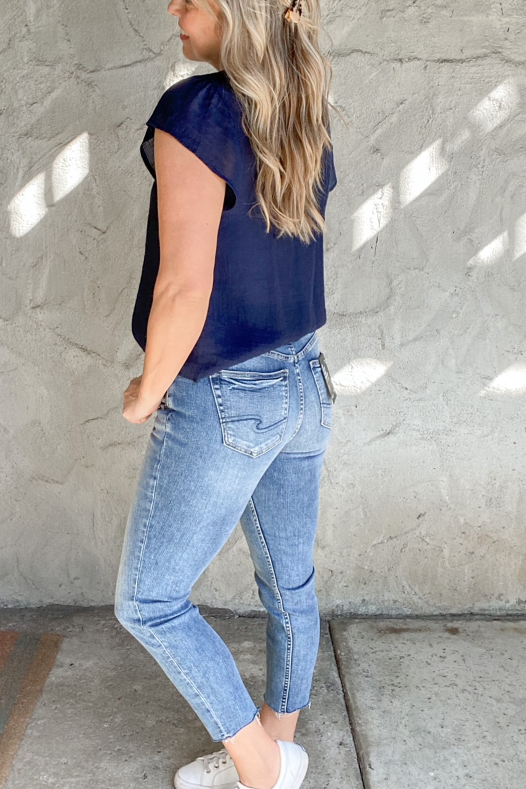 Silver Jeans Co. 4 Button Summer Denim Jeans - Front Full Image
