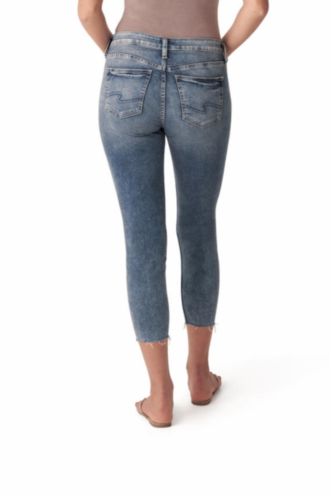 Silver Jeans Co. 4 Button Summer Denim Jeans - Back Cropped Image