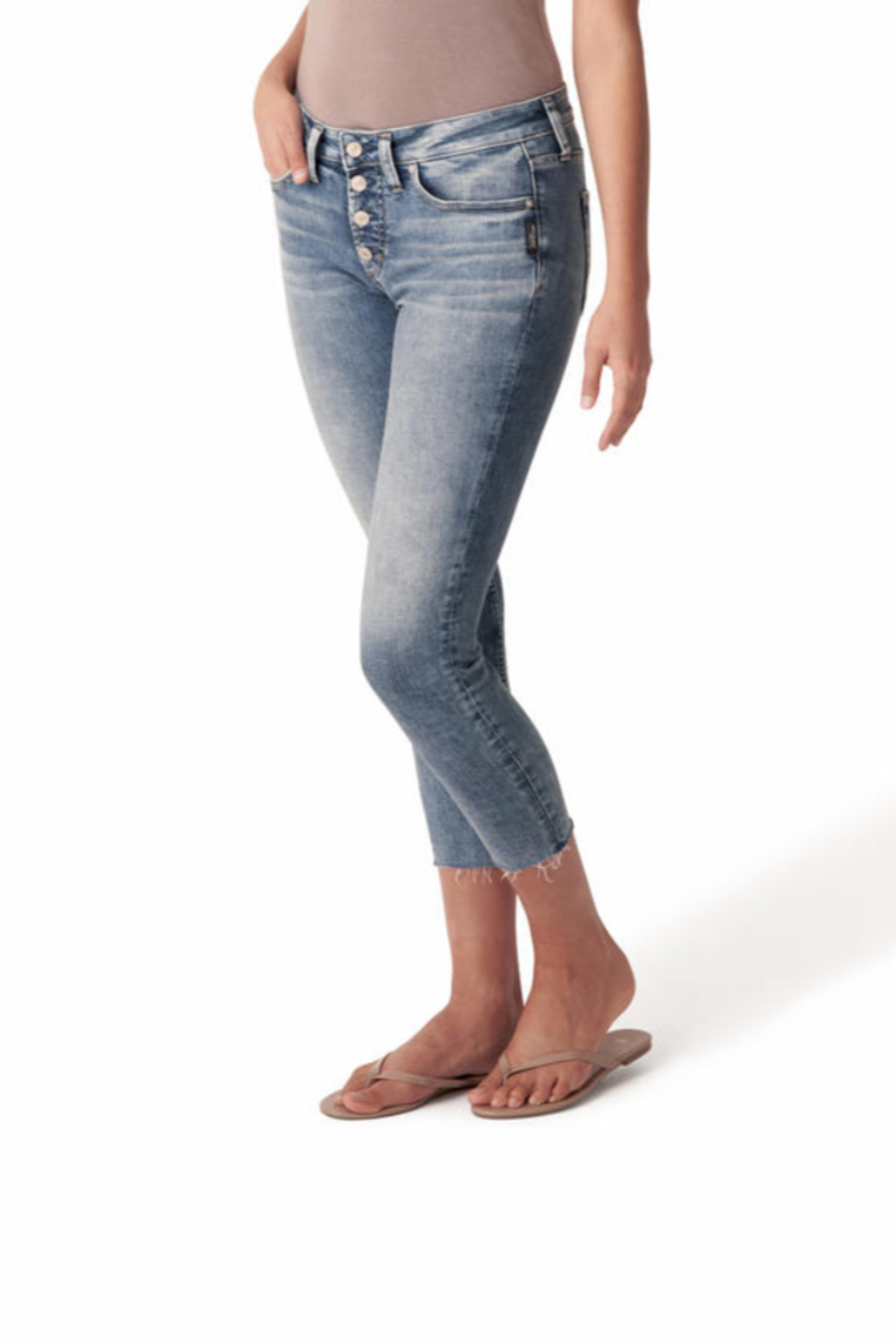 Silver Jeans Co. 4 Button Summer Denim Jeans - Side Cropped Image