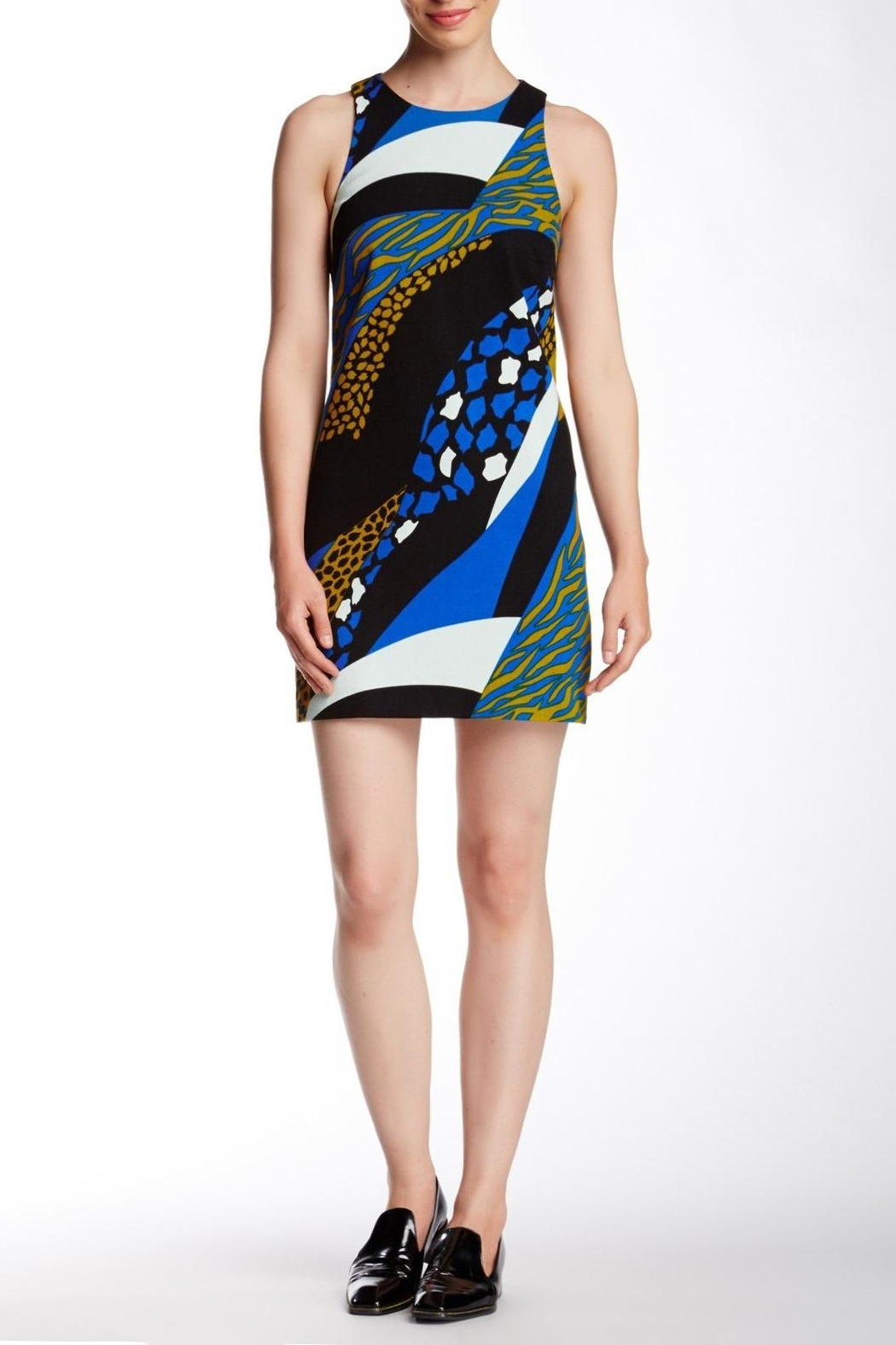 4.Collective Cheetah Sleeveless Dress - Front Cropped Image