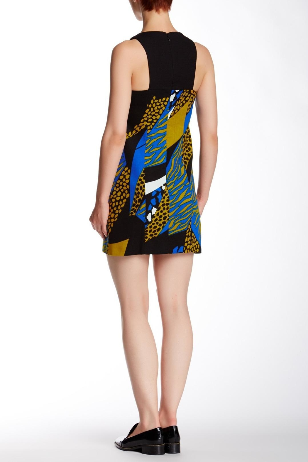 4.Collective Cheetah Sleeveless Dress - Front Full Image