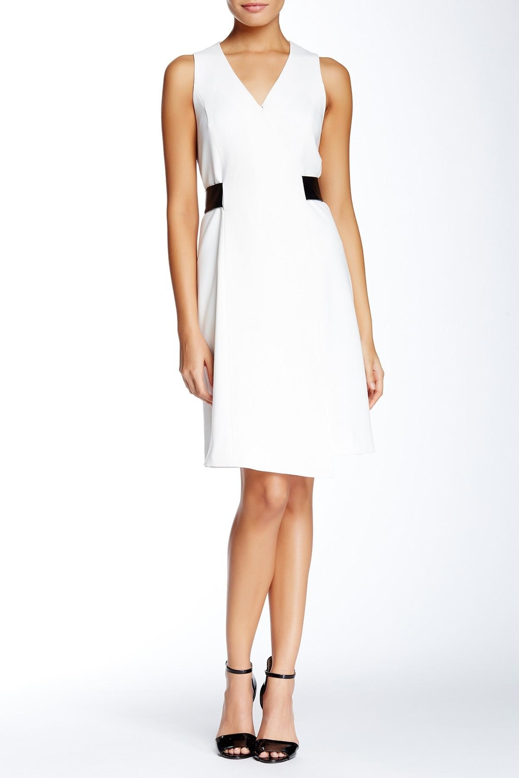 4.Collective Crepe Sleeveless Wrap-Dress - Main Image