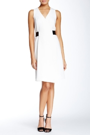 4.Collective Crepe Sleeveless Wrap-Dress - Front cropped