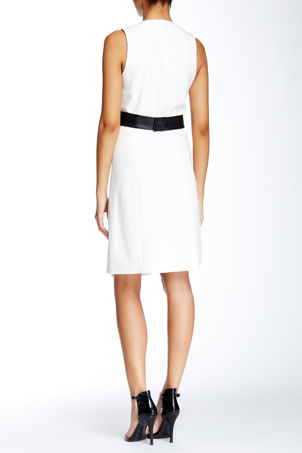 4.Collective Crepe Sleeveless Wrap-Dress - Front Full Image