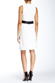 4.Collective Crepe Sleeveless Wrap-Dress - Front full body