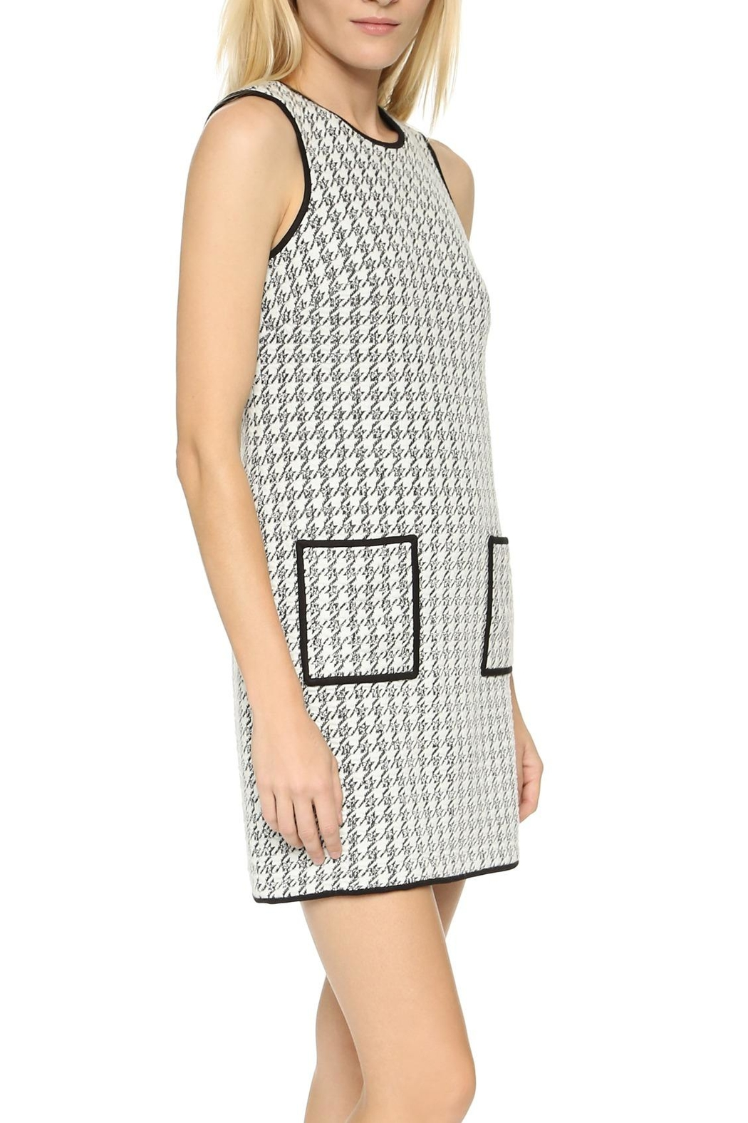 4.Collective Peggie Houndstooth-Shift Dress - Front Full Image