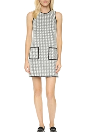 4.Collective Peggie Houndstooth-Shift Dress - Front cropped