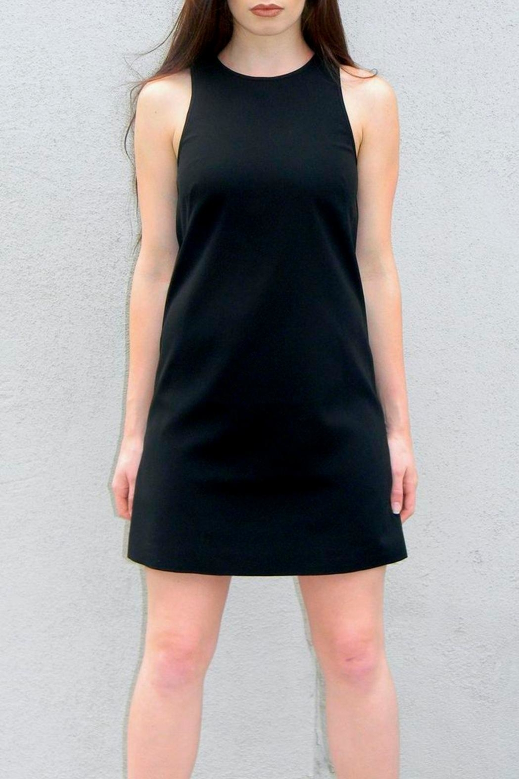 4.Collective Solid Crepe Dress - Main Image