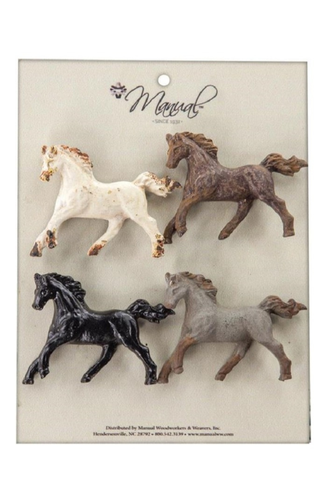 MWW 4 Horse Magnets - Main Image