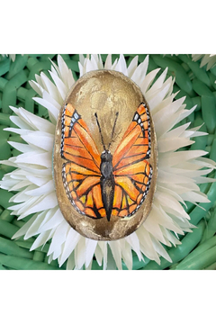 The Birds Nest 4 INCH HANDPAINTED BUTTERFLY EGG - Product List Image