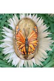 The Birds Nest 4 INCH HANDPAINTED BUTTERFLY EGG - Product Mini Image