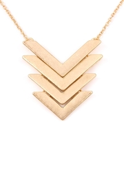 Riah Fashion 4-Line-Tapered Chevron-Pendant Necklace - Front full body
