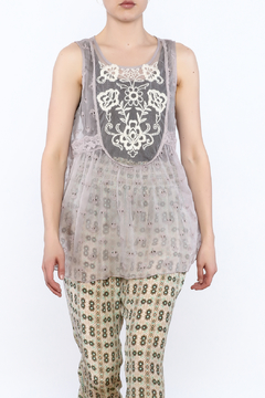 Shoptiques Product: Sheer Lilac Sleeveless Top