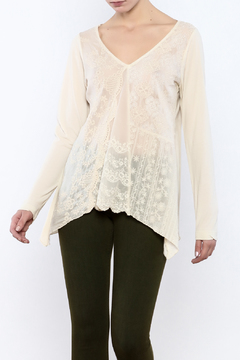 Shoptiques Product: Embroidered V-Neck Top