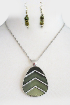 Mimi's Gift Gallery 4 Shades of Green Necklace Set - Product List Image