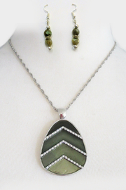 Mimi's Gift Gallery 4 Shades of Green Necklace Set - Product Mini Image