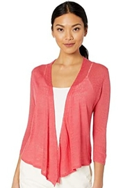 Nic + Zoe 4-way sedona red cardigan with 3/4 sleeves - Front cropped