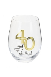 Ganz 40 & Fabulous Stemless - Front cropped