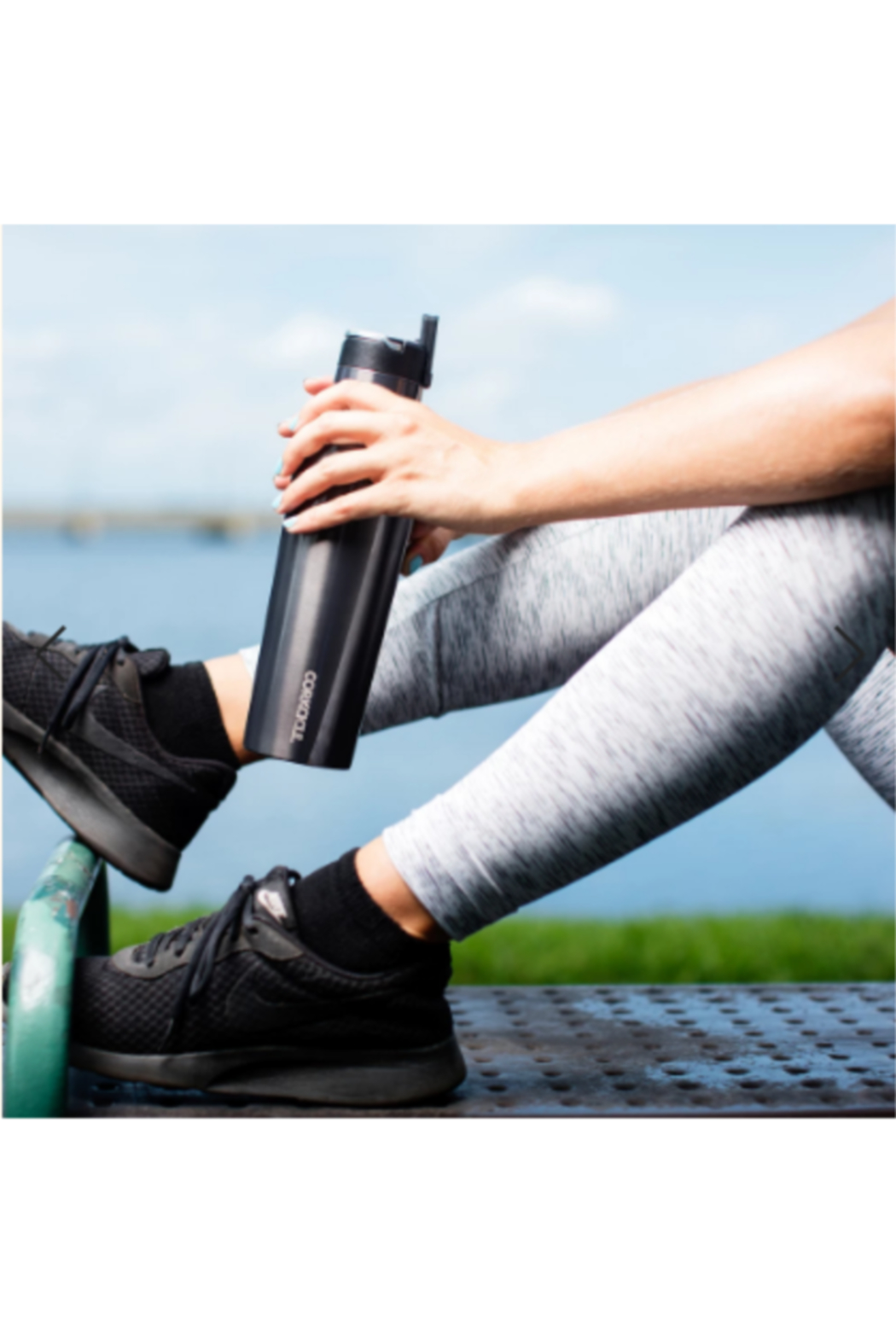 Corkcicle 40 OZ SPORT CANTEEN-GUNMETAL - Front Full Image