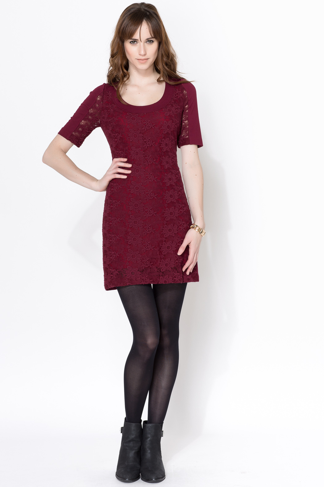 Plenty By Tracy Reese Maroon Lace Dress From Brooklyn By