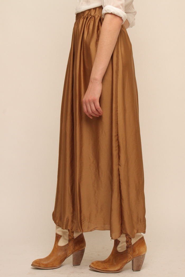 baci crinkle maxi skirt from nolita shoptiques