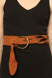 Aoyama Itchome Braided Belt - Front cropped