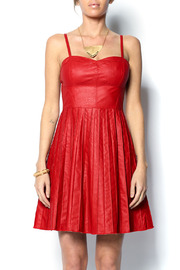 Shoptiques Product: Faux Leather Red Dress