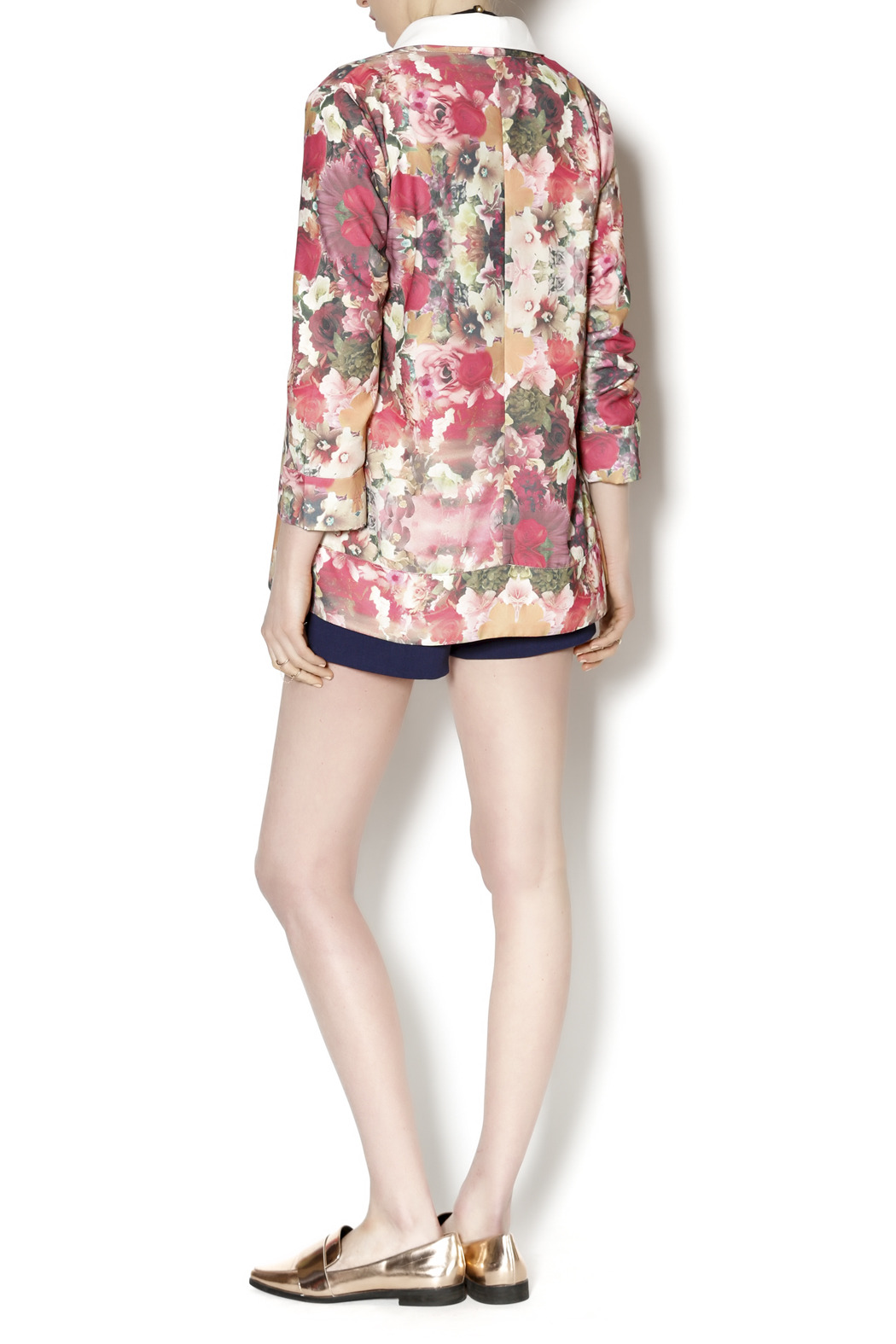 Gentle Fawn Floral Print Blazer - Side Cropped Image