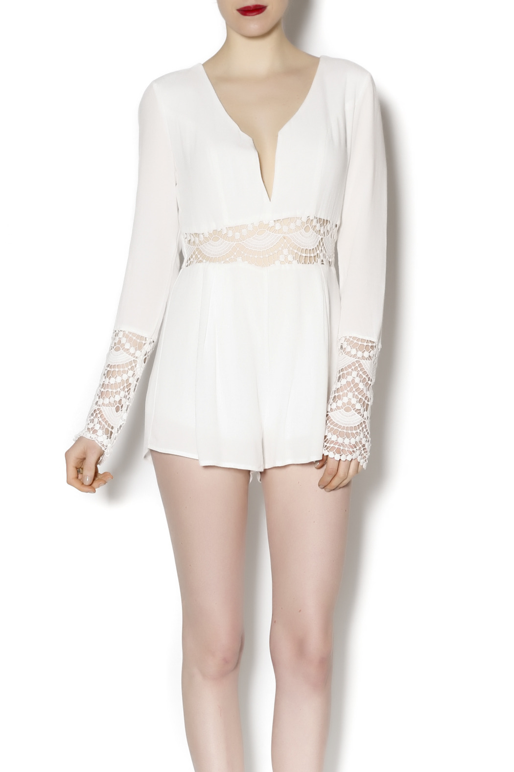 8bbe6c78ee1 Honey Punch White Crochet Romper from New York by Dor L Dor — Shoptiques