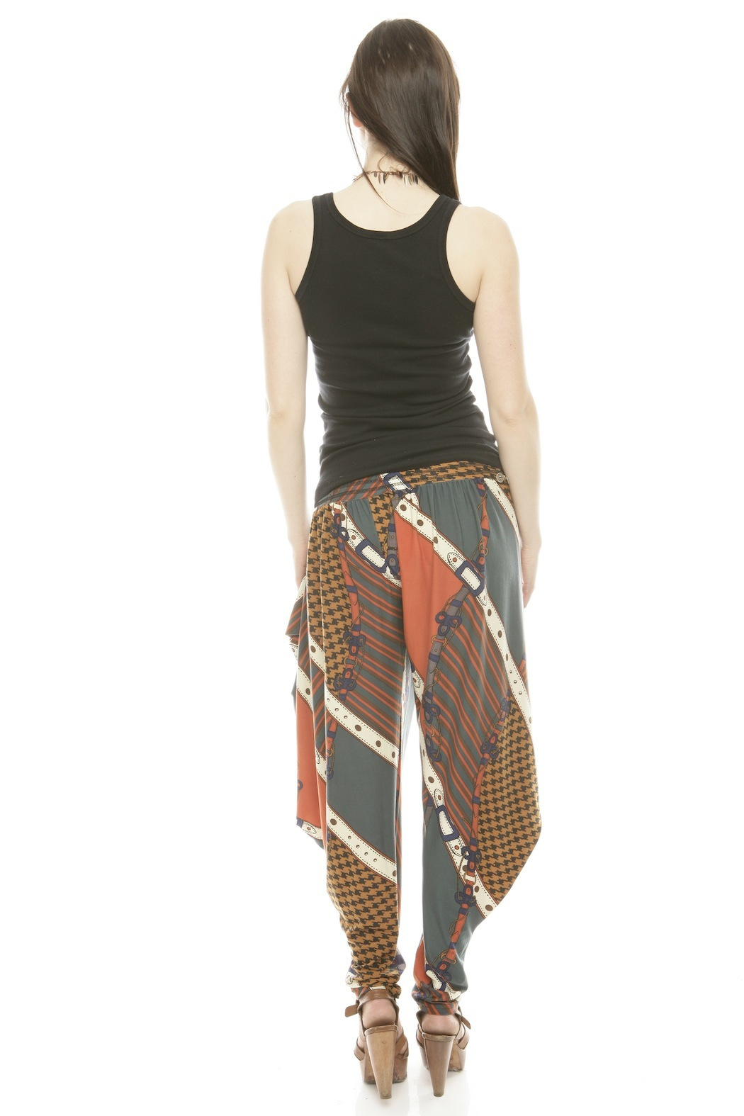 Maxime Paris Tina Harem Pants - Back Cropped Image