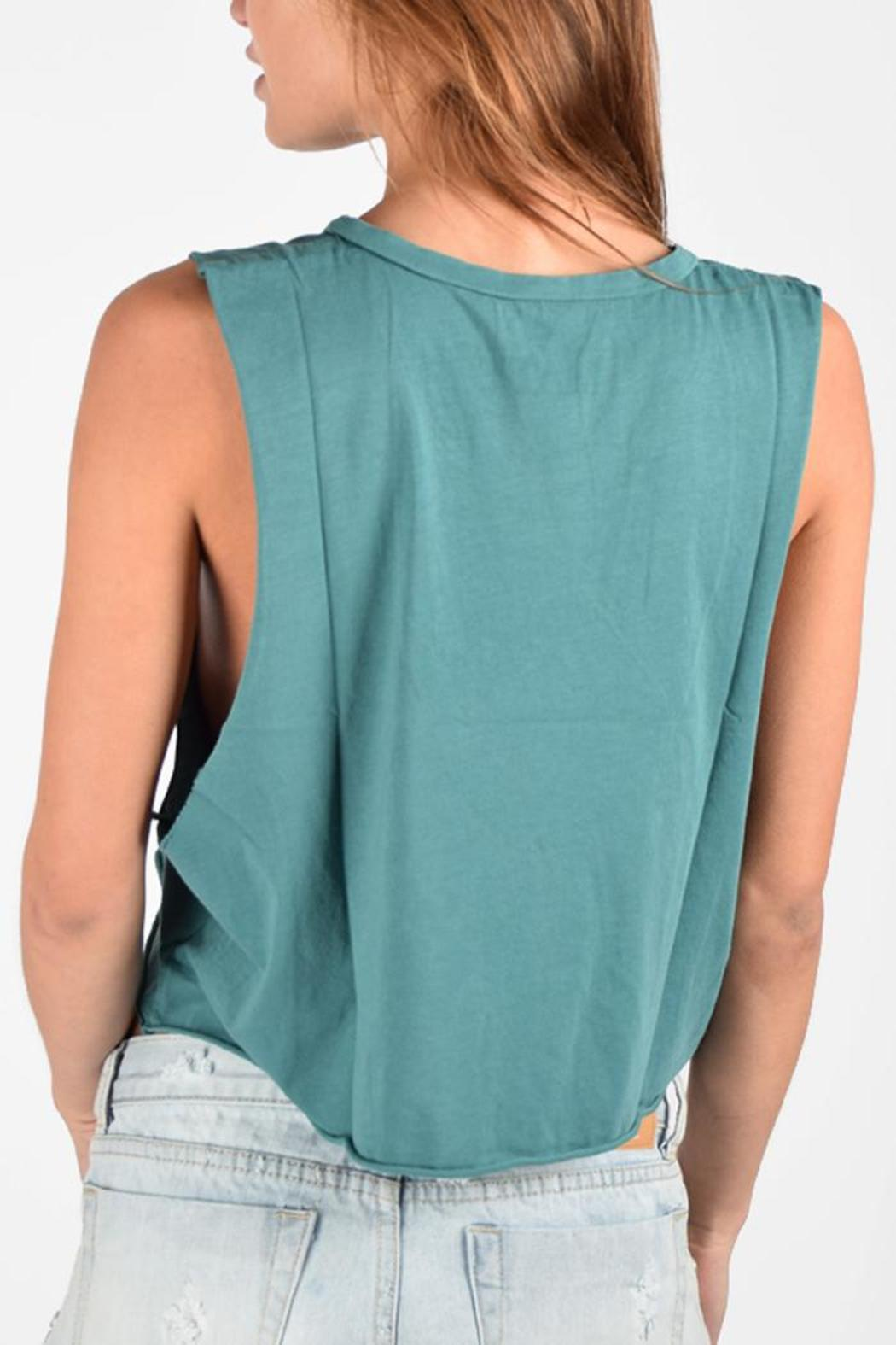 mate the label graphic crop tank from california by punch