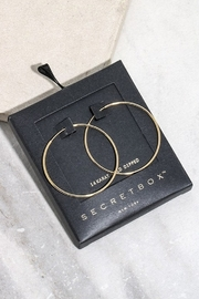 Secret Box 40mm Hoop Earrings - Front cropped