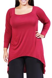 24/7 Comfort Apparel Plus-Size Extra-Long Tunic - Product Mini Image