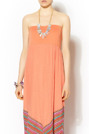Missy Robertson Coral Chevron Detail Maxi - Side cropped