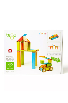 Tegu 42 Piece Magnetic Wooden Block Set - Product List Image