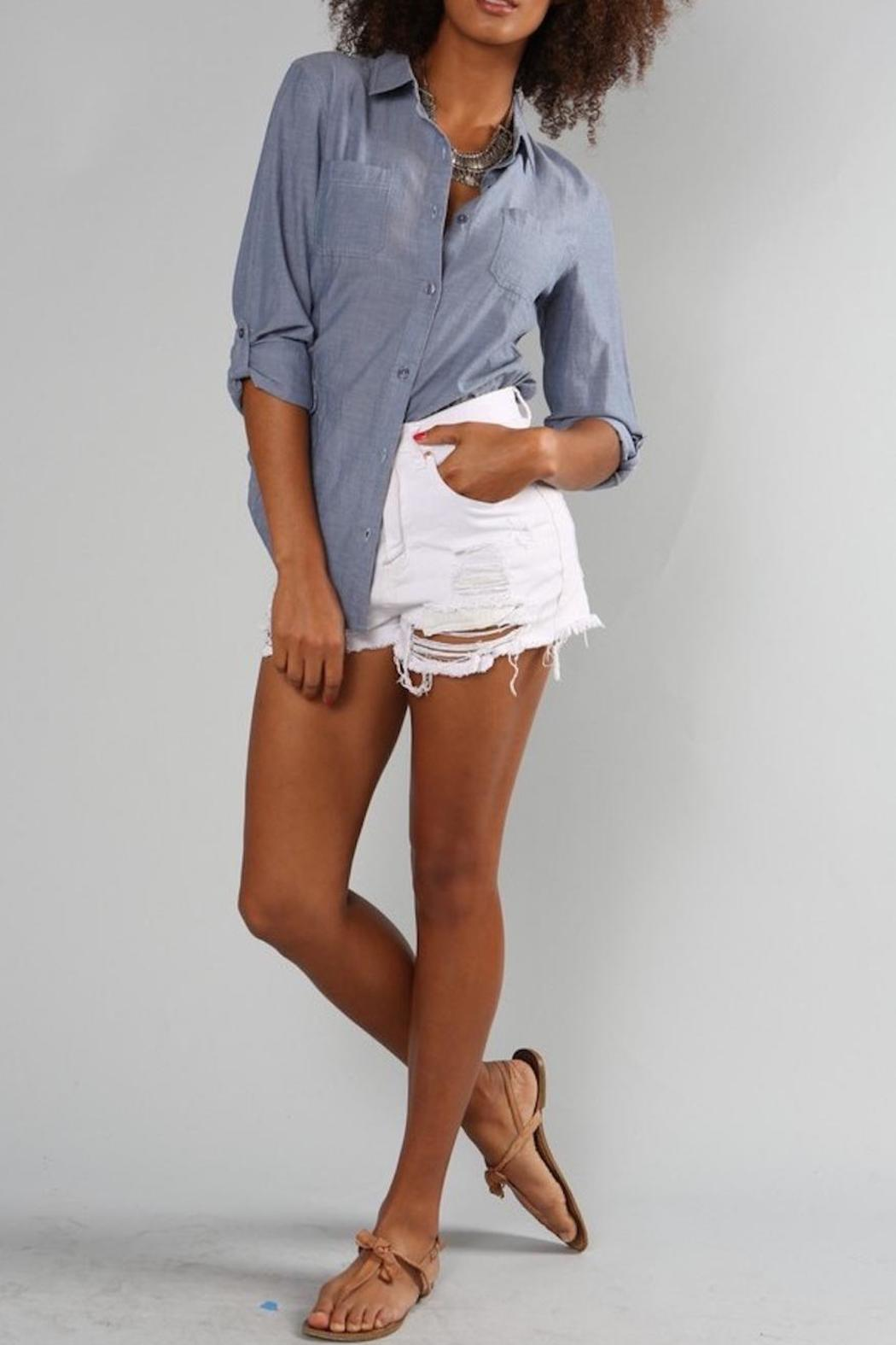 Ppla Chambray High Low Shirt From Texas By Diamond T Outfitters Shoptiques