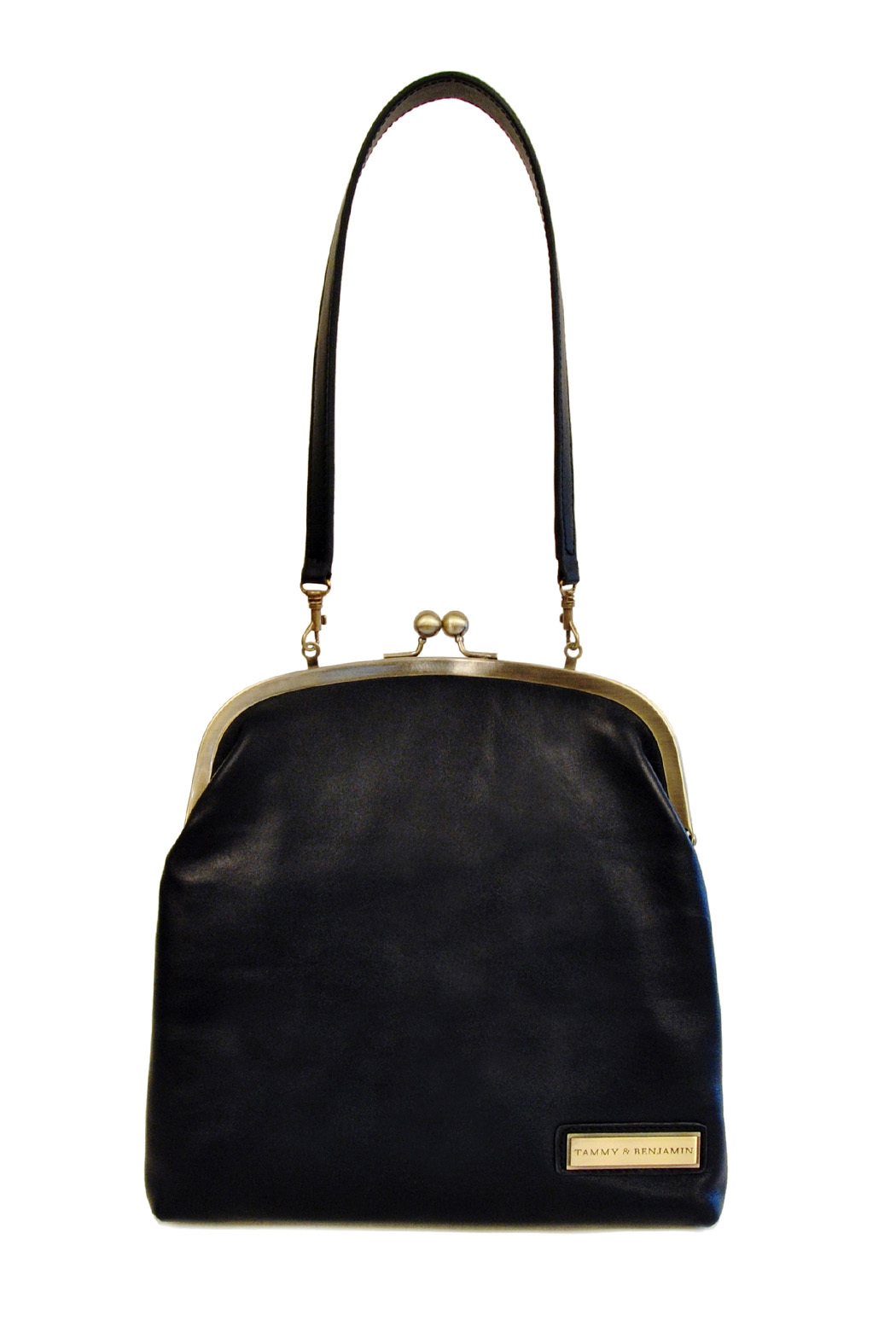 Tammy & Benjamin Single Clasp Leather Bag - Front Cropped Image
