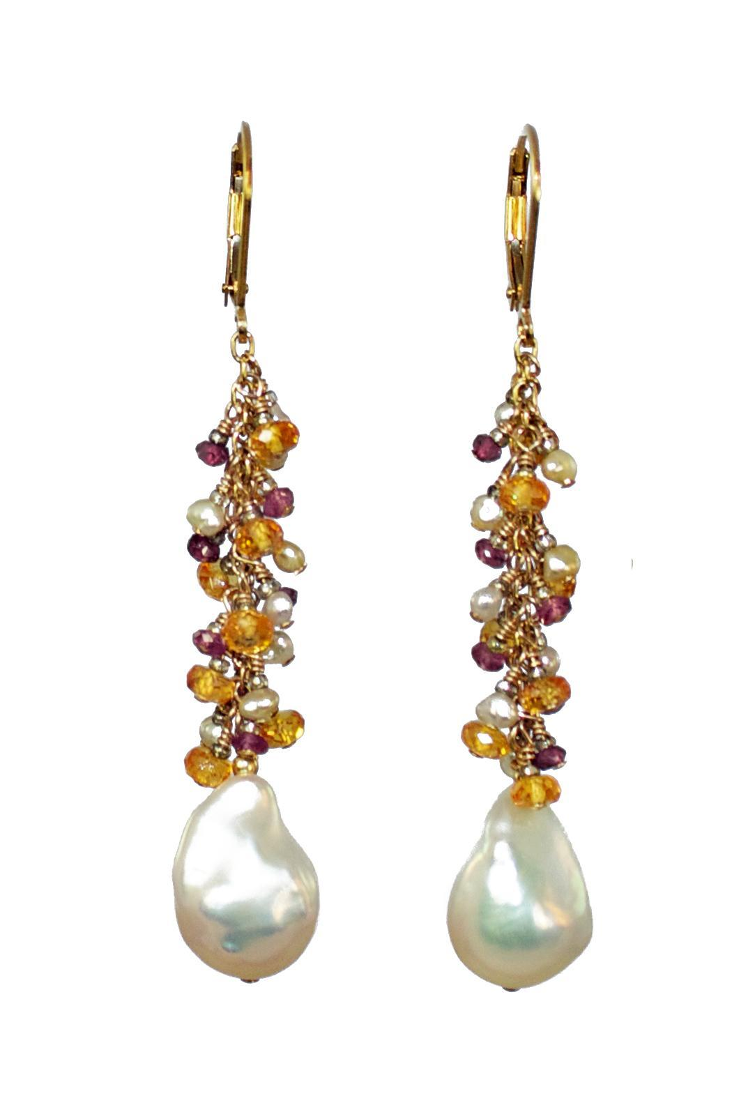 Melinda Lawton Jewelry Garnets And Pearls - Main Image