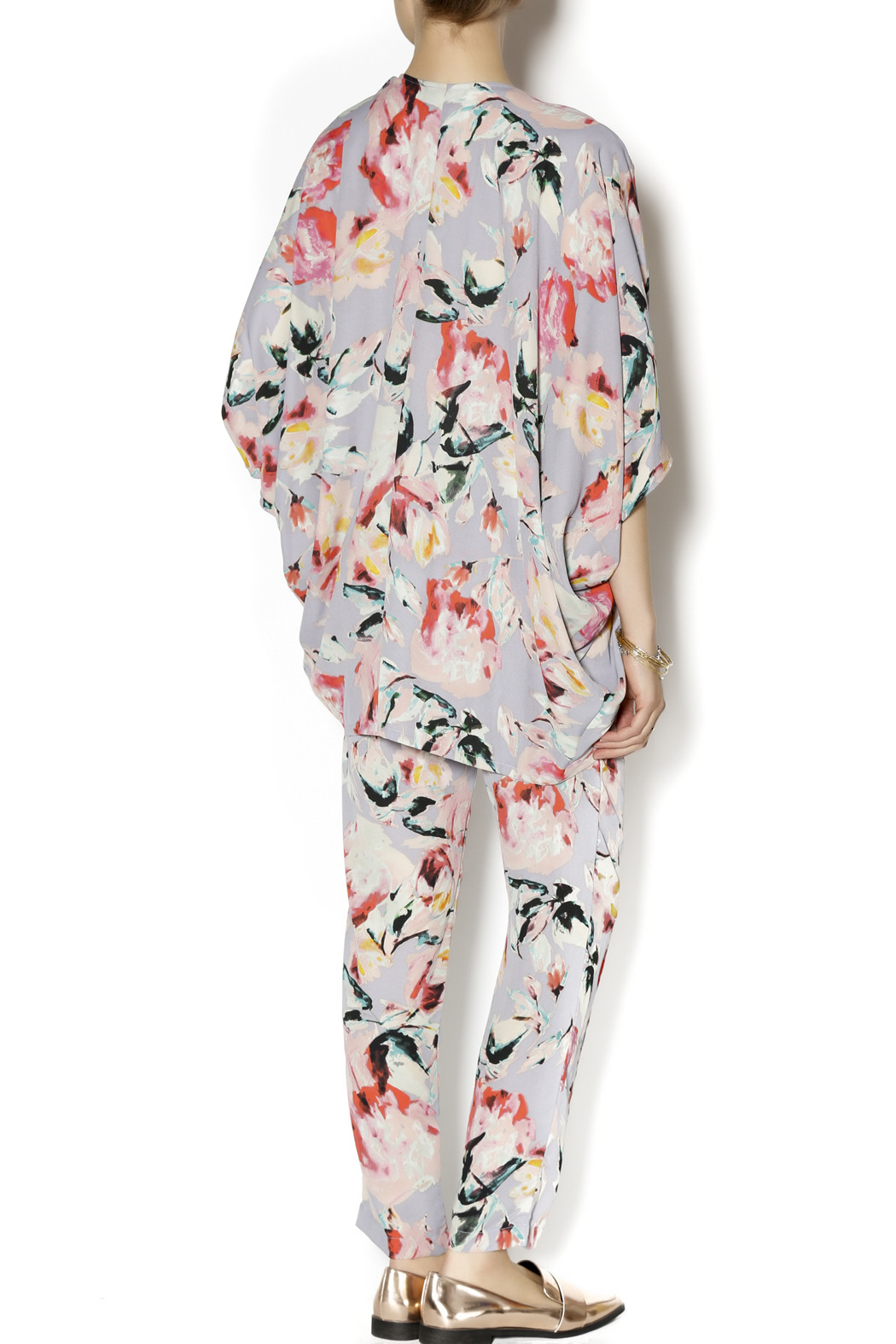 Eight Sixty Floral Kimono - Side Cropped Image